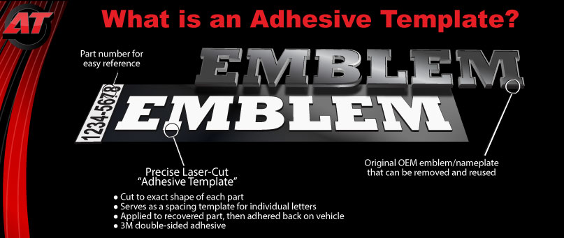 What is an adhesive template